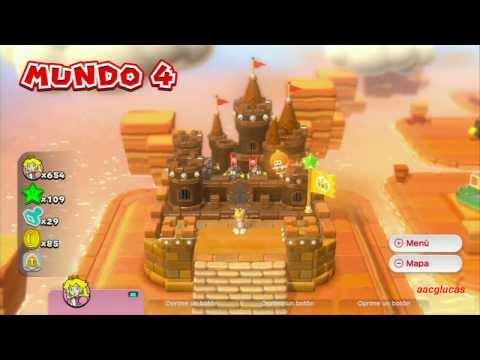 Guia Super Mario 3D World 100% (5 estrellas) Mundo 4