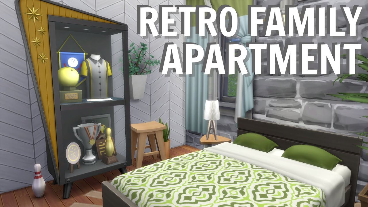 The Sims 4 // MODERN MID CENTURY FAMILY APARTMENT | 2B Jasmine Suites  RENOVATION