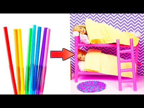 DIY Barbie Hacks   Making Easy Miniature Dollhouse   Creative Fun For Kids