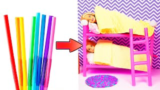 DIY Barbie Hacks | Making Easy Miniature Dollhouse | Creative Fun For Kids
