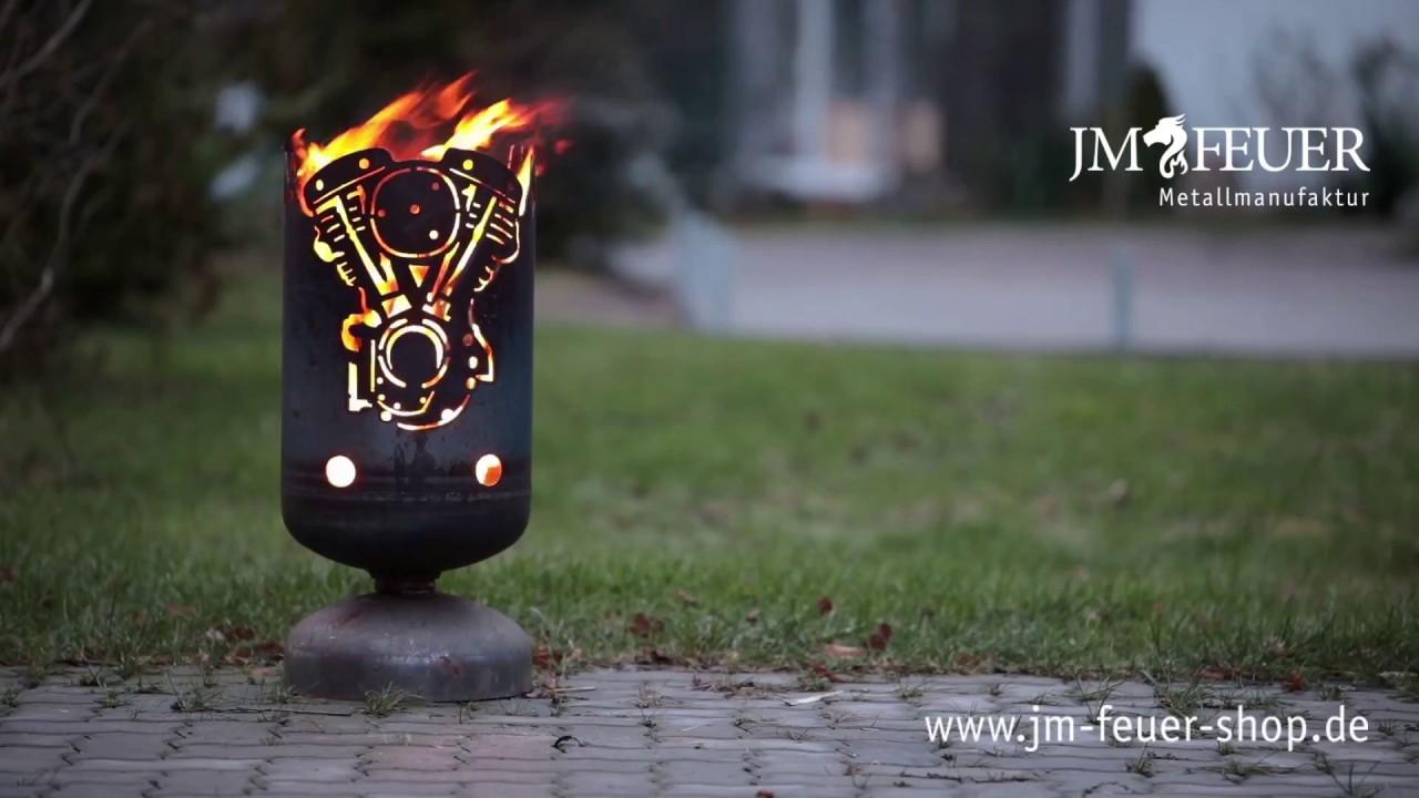 Jm Feuer Shop feuerkorb vmotor 2zylinder aus metall