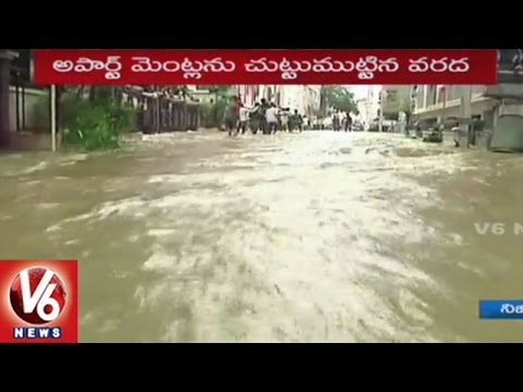 Nizampet Colony People Facing Problems With Floods | Hyderabad | V6 News