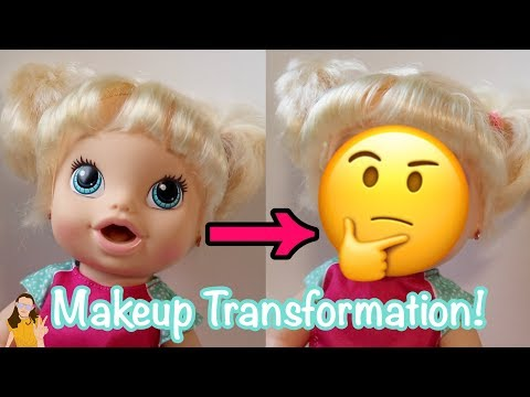 Putting REAL Makeup on Baby Alive Mallerie! | Kelli Maple