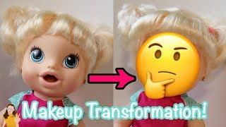 Putting REAL Makeup on Baby Alive Mallerie!   Kelli Maple