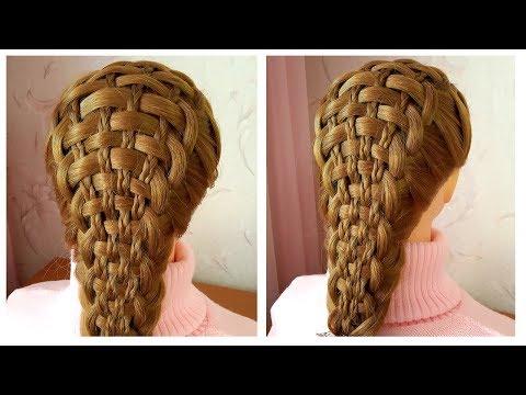 Basket braid   New Braided Hairstyle   Belle coiffure avec tresses facile à faire cheveux long thumbnail