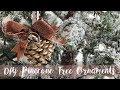 ❄ DIY Pinecone Christmas Tree Decorations ❄
