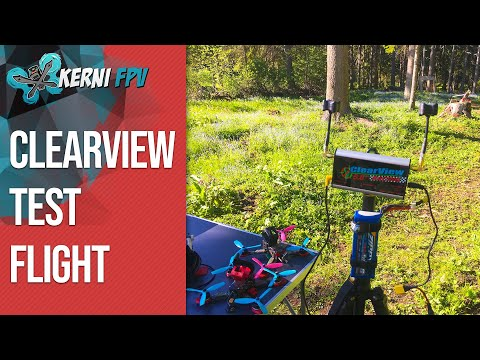 FPV Quadcopter flying with CLEARVIEW