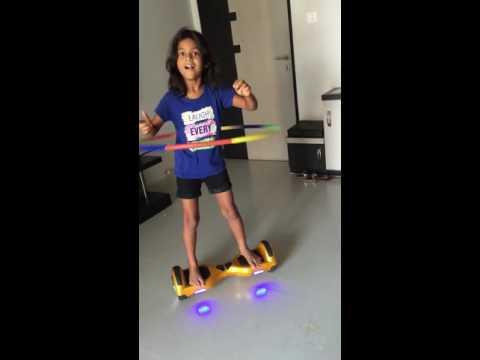 Hula hoop ring performance on smartwheel, self balancing wheel scooter