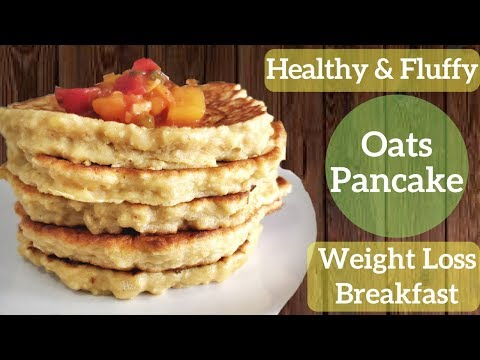 how-to-make-fluffy-oatmeal-pancakes-|-healthy-breakfast-for-fast-weight-loss