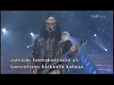 2006 Eurovision Song Contest final -Lordi is winning 20 May 2006
