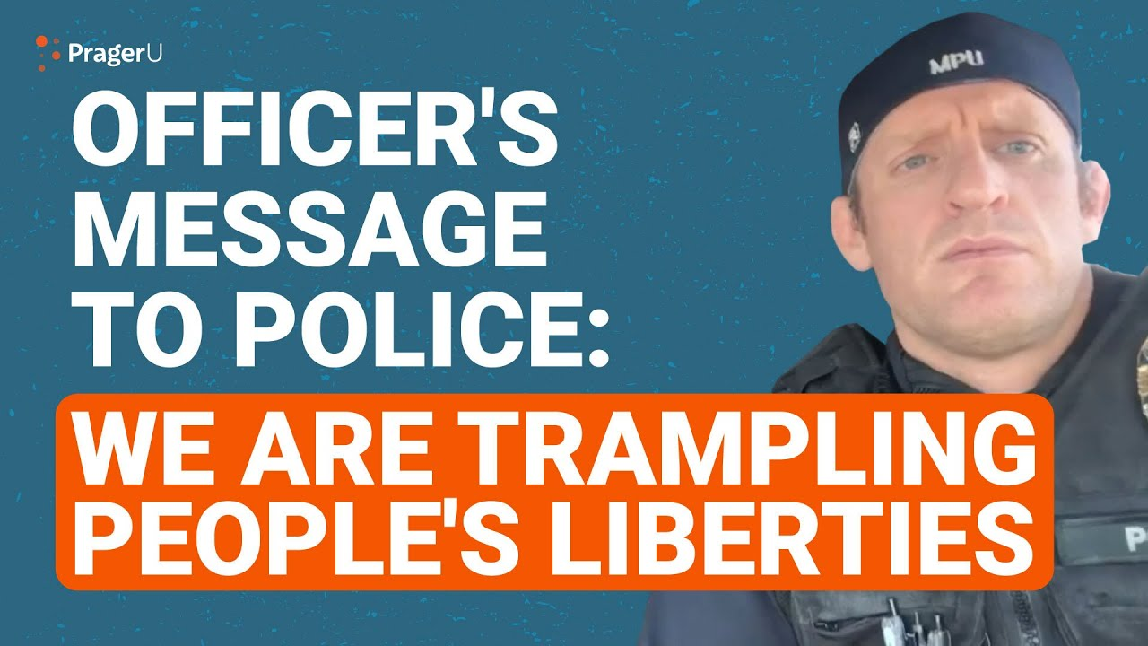 Officer's Message to Police: We Are Trampling People's Liberties