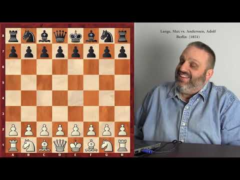 """Max Lange -- """"Great Players of the Past"""" series, with GM Ben Finegold"""