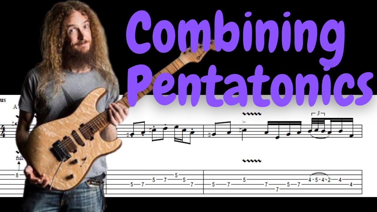 Guthrie Govan - Combaning Pentatonics - TAB Transcription #1