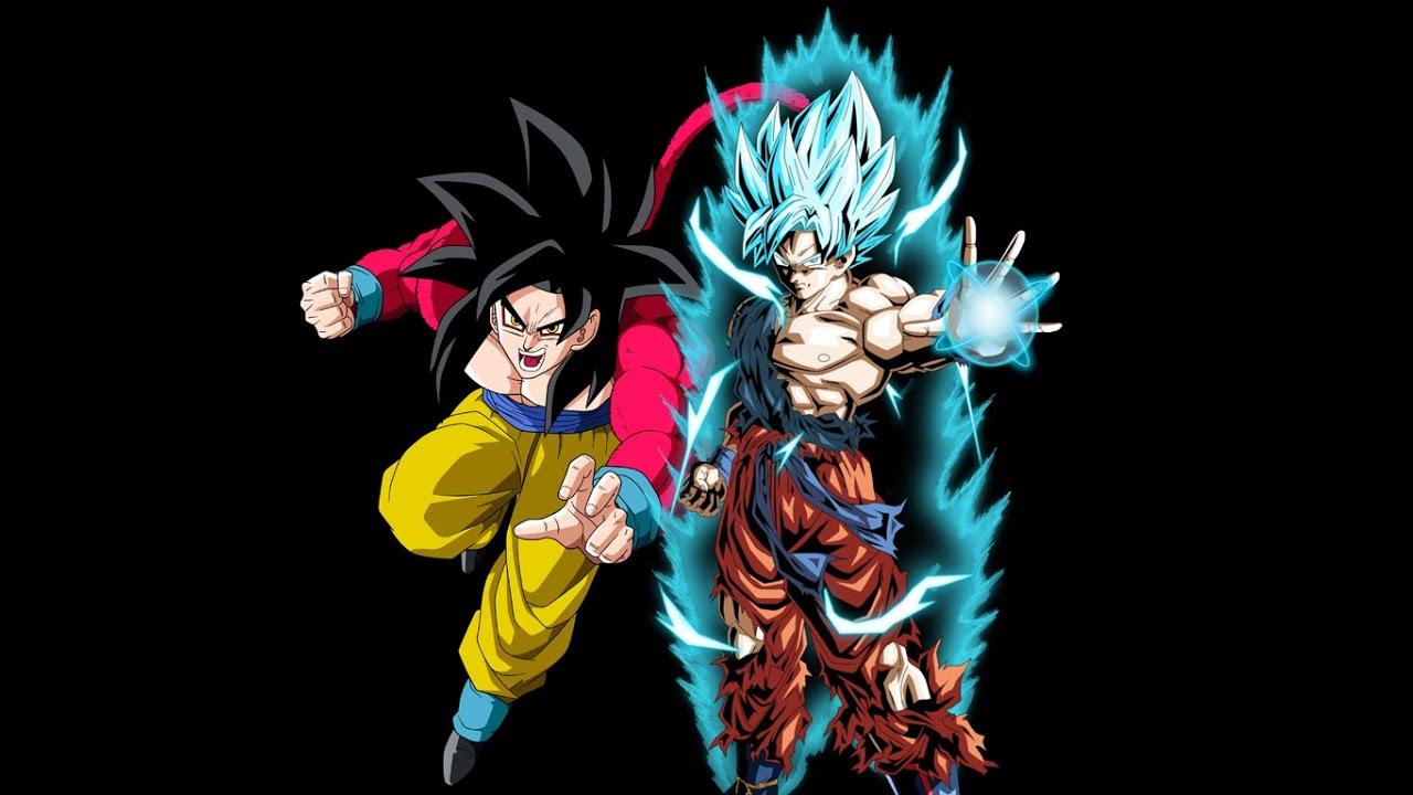 super saiyan 4 goku vs super saiyan blue goku m u g e n battle 1