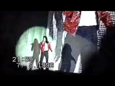 Michael Jackson HIStory Tour 1996 Opening Prague Praha Prag concert amateur camera