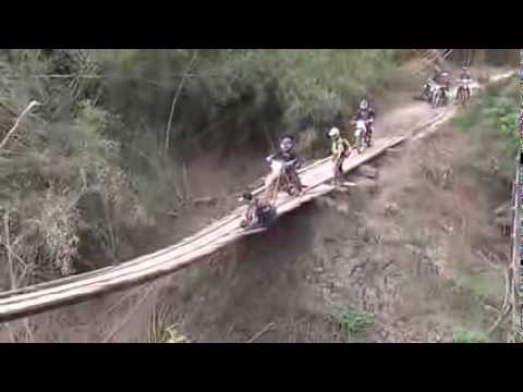 Scary Bridge Almost Collapses | Cambodia Dirt Bike Tours