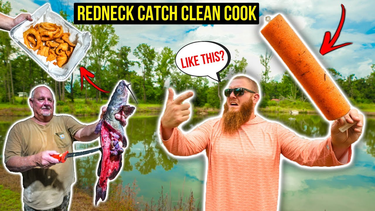 Backyard Pond REDNECK Catch Clean Cook  w/ Neighbor Darrell (DELICIOUS)