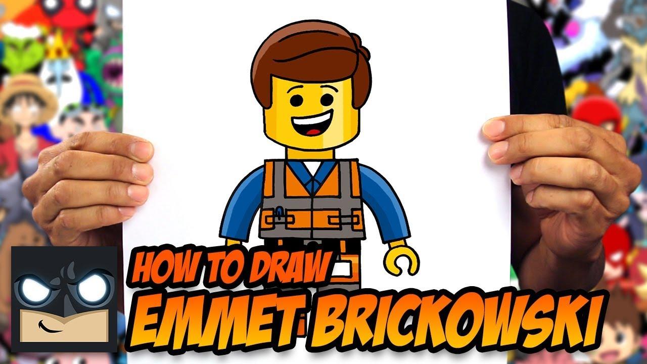 HOW TO DRAW EMMET BRICKOWSKI | LEGO MOVIE #1