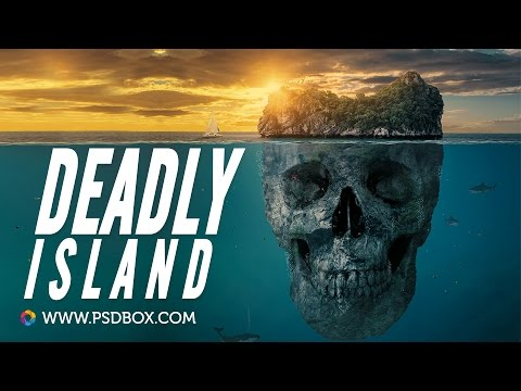 Skull Island - Create a Mysterious island in Photoshop CC