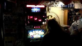 Jen Hits Jackpot 777 Triple 7's on Bingo Slot Machine Gambling