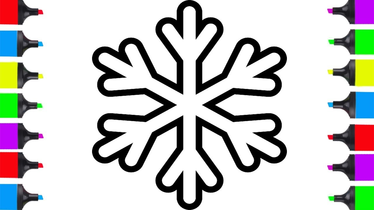 HOW TO DRAW CHRISTMAS SNOWFLAKE EASY FOR KIDS | COLORING PAGES ...