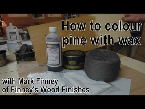 How To Wax Pine Youtube