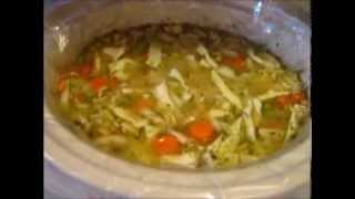 Cooking W/ Gradysmom13: Healthy Chicken Soup W/ Lentils & Cabbage (crock Pot)