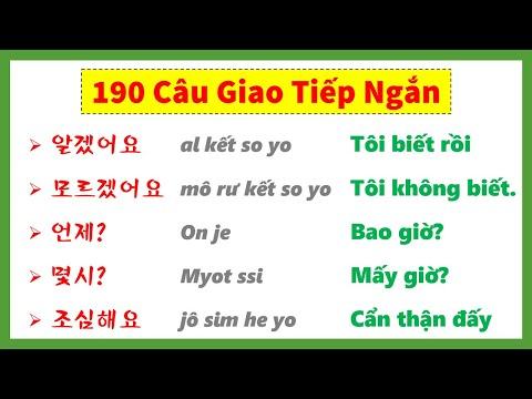 Học 1 Lèo 190 Câu Tiếng Hàn Thông Dụng, Dễ Nhớ   실전 한국어 200문장