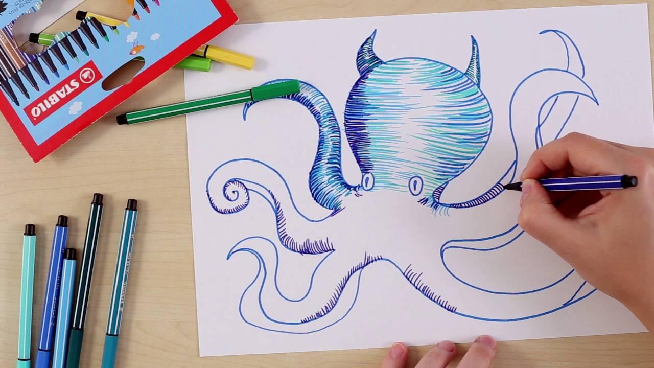 Zeichnen tintenfisch 33 Segelschiff