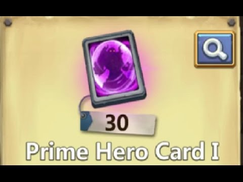 Opening 30 Total PRIME Hero Cards Castle Clash