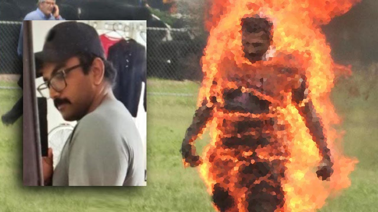 White House Man on Fire, Hallucinating on Drugs?