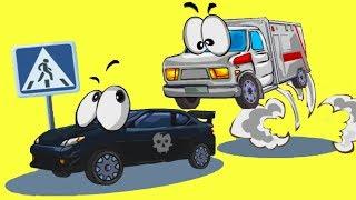 CAR TOONS. #2. Машинки спасатели спешат на помощь. Мультик игра для детей