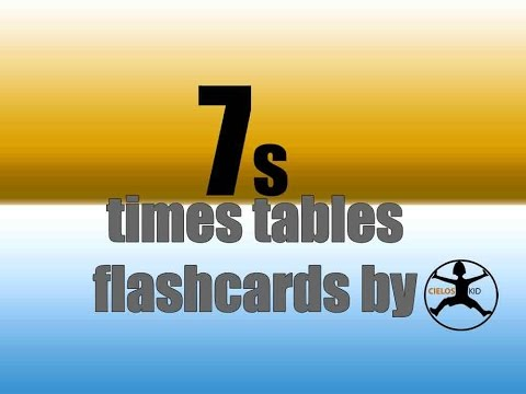7's times tables flashcards