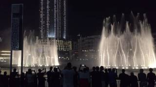 Dubai dancing fountain, Michael Jackson - Thriller