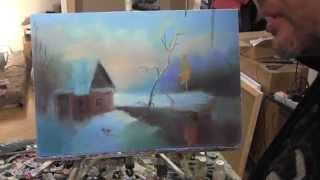 Видеоурок Игоря Сахарова, уроки маслянной живописи