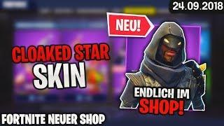 FORTNITE SHOP vom 24.9 - 👤 CLOAKED STAR! 🛒 Fortnite Daily Item Shop Heute (24 September 2018) | Detu