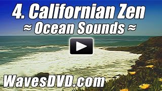 4 - CALIFORNIA ZEN - WAVES DVD Virtual Vacations Nature Video relaxing ocean sounds relax best beach