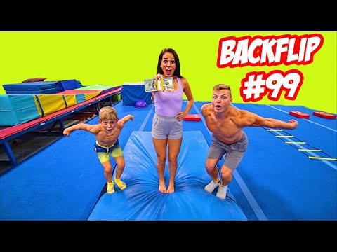 LAST TO BACKFLIP VS AN 8 YEAR OLD WINS...