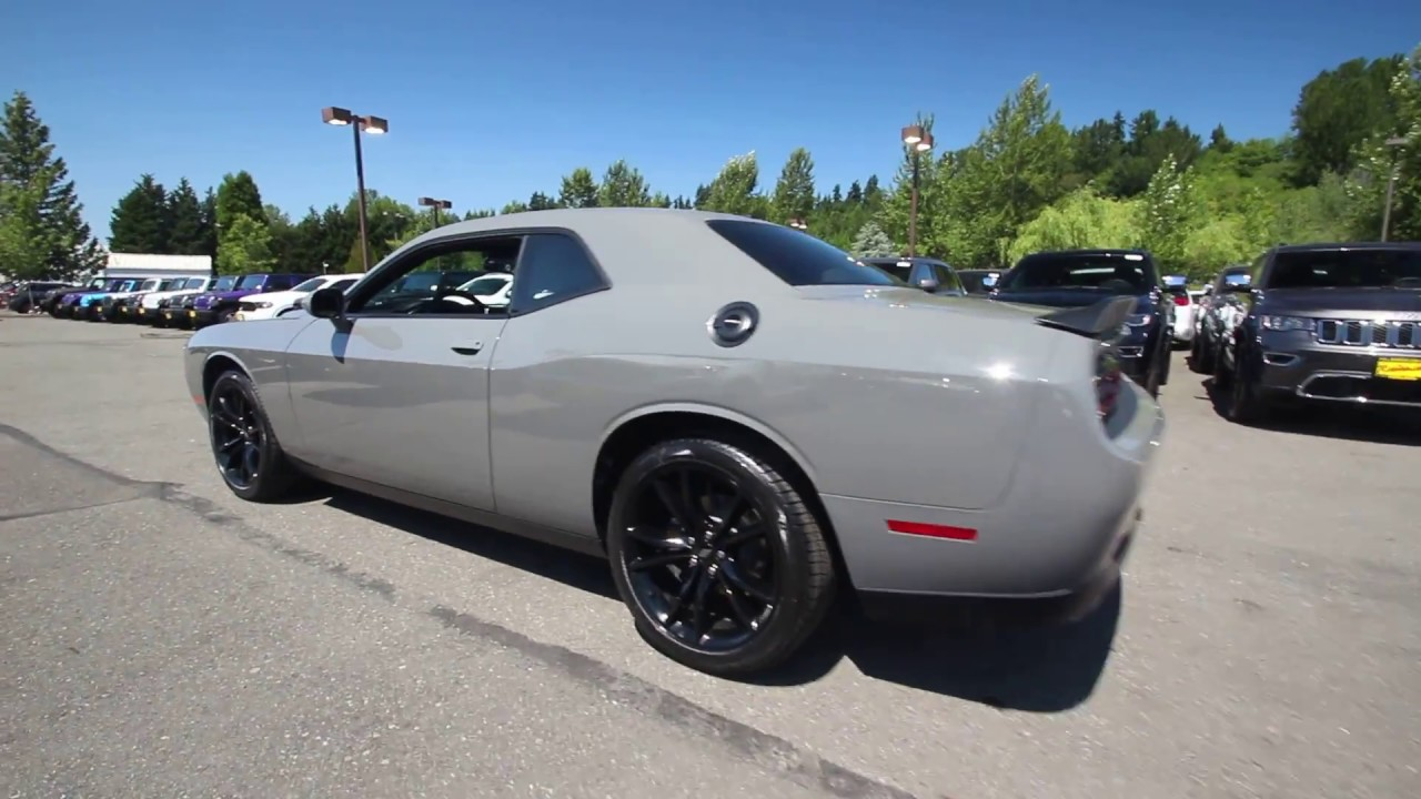 Hell Cat Challenger >> 2017 Dodge Challenger SXT | Destroyer Gray Clear Coat | HH638086 | Redmond | Seattle | - YouTube