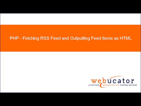 PHP Function for Fetching RSS Feed and Outputting Feed Items as HTML