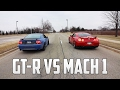 2016 Nissan GT-R VS 2003 Mustang Mach 1 - Can I Keep Up?
