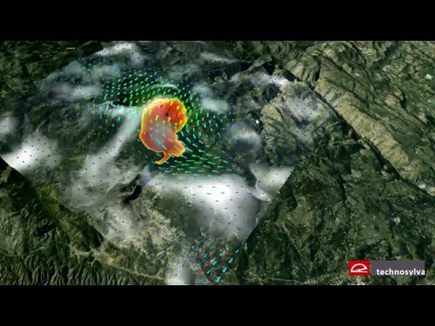 Wildfire Analyst: integration of real time wind to simulate wildfires
