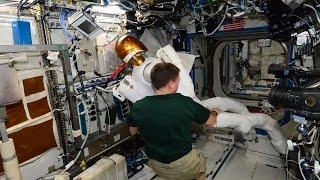 Astronaut Terry Virts Setting up Robonaut