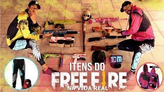MOSTRANDO TODOS OS ITENS DO FREE FIRE NA VIDA REAL