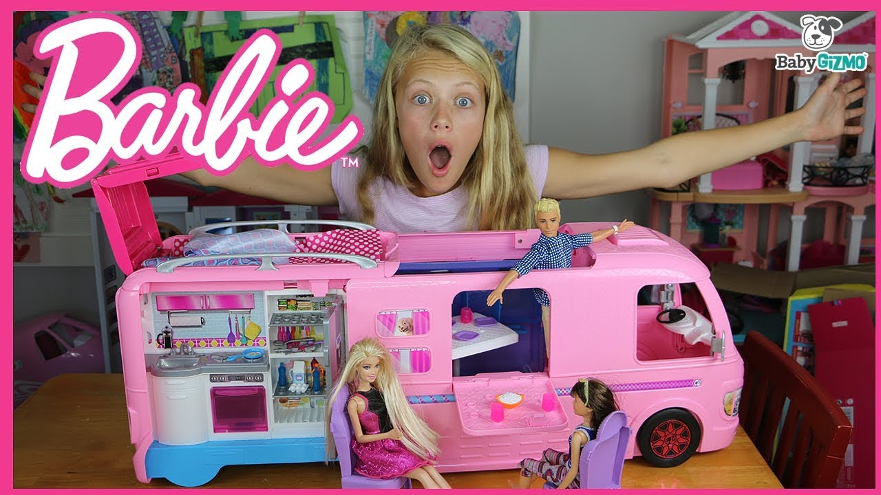 Barbie Dream Camper Toy Girls RV Vehicle Barbie Doll Motorhome House Playset NEW