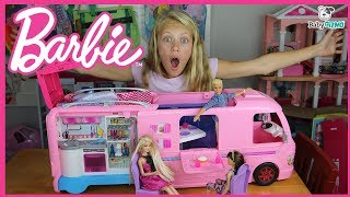 NEW Barbie Dream Camper TOY UNBOXING