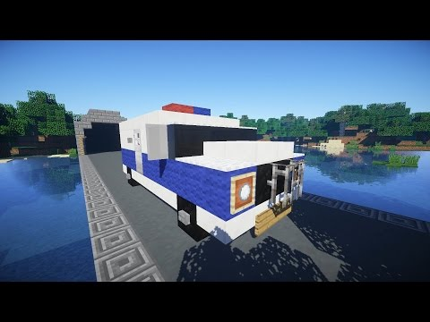 Как построить ПОЛИЦЕЙСКИЙ БОБИК в Minecraft (с камерой для заключенного и мотором)