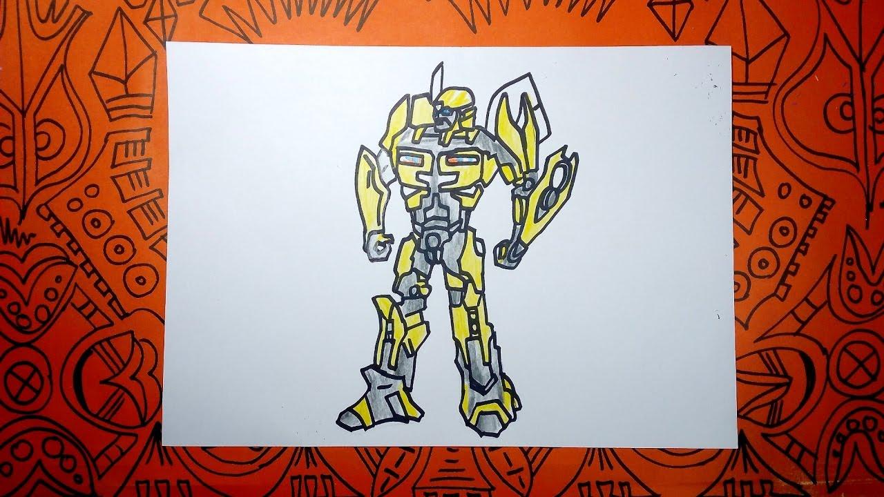 Cómo dibujar a Bumblebee de Transformer - Pasos sencillos - YouTube
