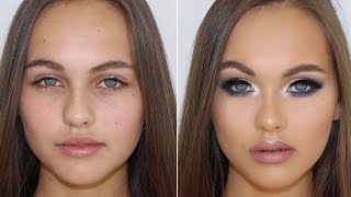 Cool Toned Smokey Eye Client Makeup Tutorial ♡ Jasmine Hand