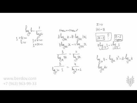 Как перевернуть логарифм